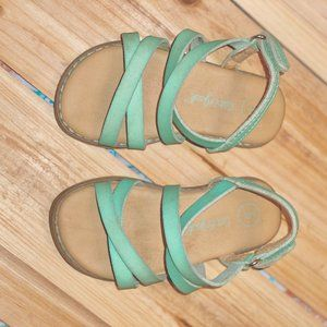 Toddler Girl Shoes Size 5 Strap Sandals Turqouise